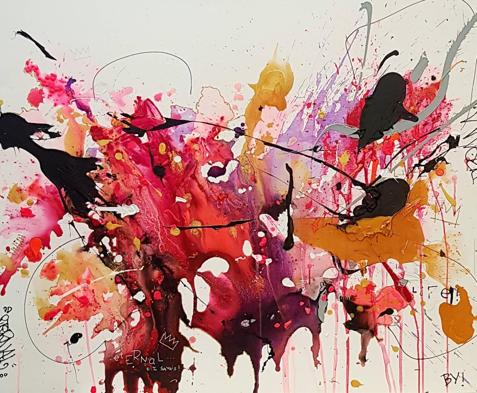Tableau Contemporain Et Oeuvre D Art Abstraite Et Trash Avec Explosion De Peinture Expose A Lyon Galerie D Art Et Concept Store Unique A Lyon Amal Gallery